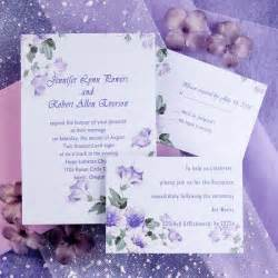 purple wedding invitations country style purple morning wedding invitations ewi088 as low as 0 94