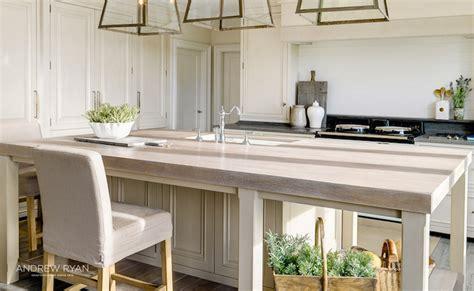 Weathered Oak Countertops  Transitional Kitchen
