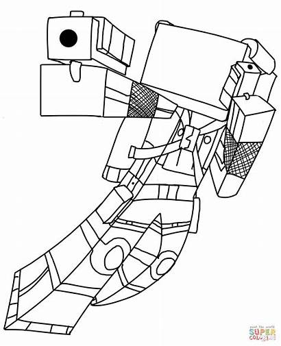 Minecraft Coloring Pages Skins Library Clipart Clip