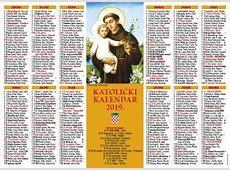 Verbum Katolički kalendar 2019 jednolisni