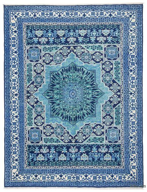 Turkish Rug k0033285 blue new turkish rug 5 9 quot x 7 7 quot 69 in x 91 in