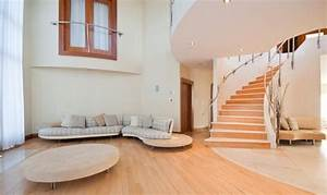 Villa hallway living room stairs Interior Design