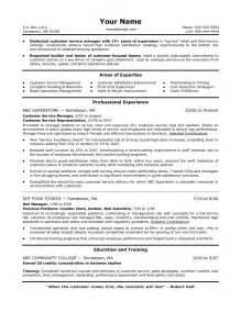 free customer service supervisor resume sles customer service manager resume student resume template
