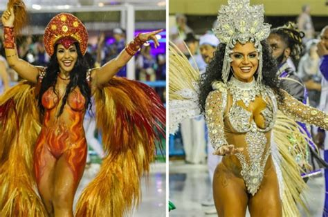 Sao Paulo Carnival Dancers Sexiest Outfits Revealed Daily Star
