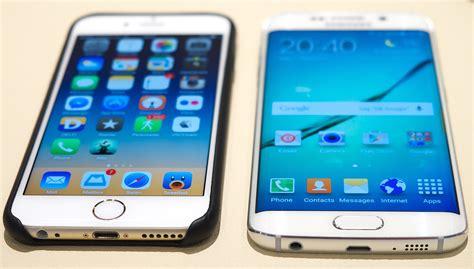 iphone 6 vs samsung galaxy s6 galaxy s6 vs iphone 6 popsugar tech