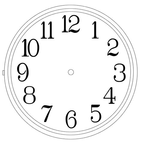 Clock Template Clock Templates Clipart Best