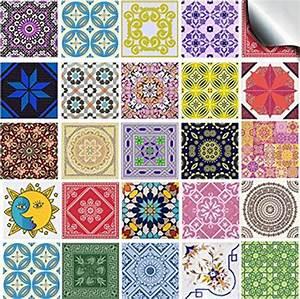 Stickers Carrelage Cuisine 15x15 : style mexicain cuisine salle de bains dosseret carrelage ~ Dailycaller-alerts.com Idées de Décoration