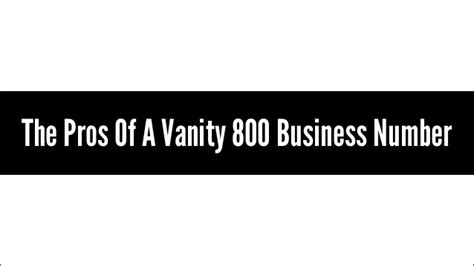 Vanity Number by Business Phone Number Local Phone Number 800 Number Or