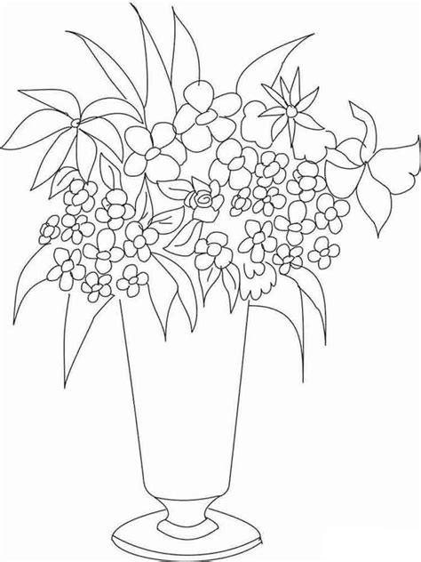 Coloring Drawings by 10 Dibujos De Flores En Un Jarron Para Colorear