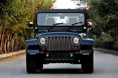 mahindra jeep 2016 mahindra thar hipster azad front indian autos blog