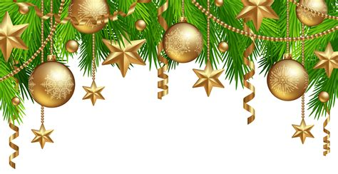 christmas border decor png clipart image gallery yopriceville high quality images and