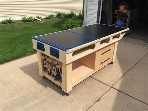 mobile outfeed assembly table buildsomethingcom
