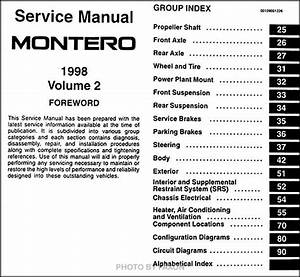 1998 Mitsubishi Montero Repair Shop Manual Set Original