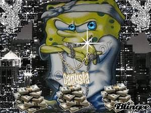 spongebob gangster pic