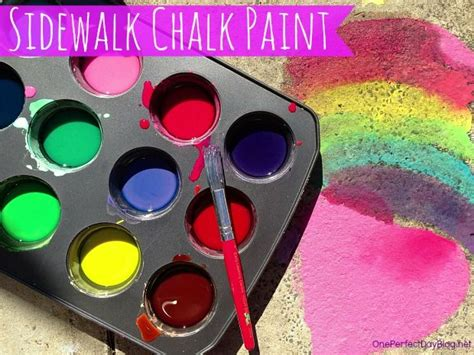 Diy Sidewalk Chalk Paint. Love The Bright Colours And Its