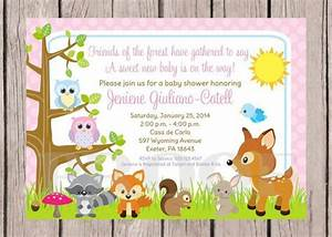 Printable Woodland Animals Invitation for Baby by ...