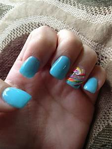 Baby Blue Nails | Hair, Makeup, Nails | Pinterest