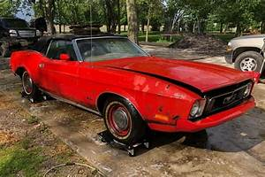 Parked for 30 Years: 1973 Ford Mustang Convertible