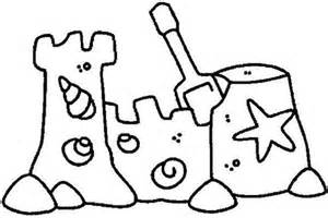 sand castle with clamshell ornament coloring page print coloring pages for