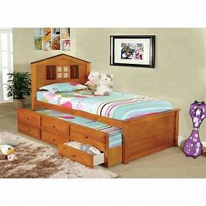 furniture of america cottage style twin storage bed with With cottage style twin beds