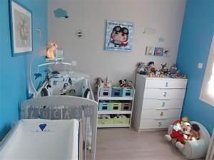Deco Chambre Bebe Bleu : d co chambre b b bleu ~ Teatrodelosmanantiales.com Idées de Décoration