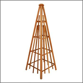 wooden garden obelisk plans woodworking projects plans