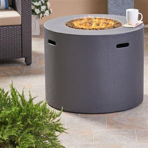 Check spelling or type a new query. Latitude Run Caelan Outdoor Concrete Propane Gas Fire Pit Table & Reviews | Wayfair