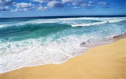 Beach Ocean Backgrounds Desktop Wallpapers Waves Sand