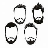 Vector Sideburns Clip Clipart Mutton Illustrations Similar Beard sketch template