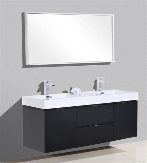 bliss  kubebath black wall mount modern bathroom