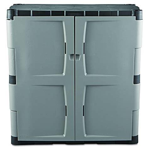 rubbermaid storage cabinet rubbermaid resin storage cabinet base fg708500michr new 2037