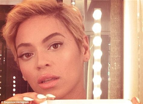 Beyonce shares snaps of her shocking new pixie cut   Daily