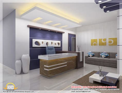 Interior Design Ideas For Office Bedroom by Beautiful 3d Interior Office Designs Kerala Home Design