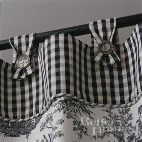 gingham and toile window treatments flats