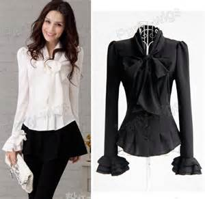 Similiar Black And White Blouses For Women Keywords