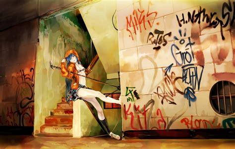 Anime Graffiti Wallpaper - wallpaper graffiti vocaloid wall microphone