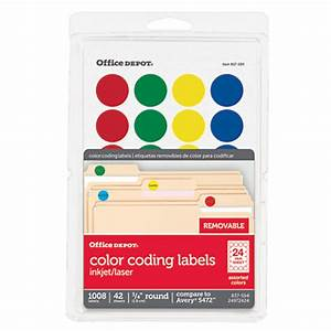 office depot brand removable round color coding labels 34 With does office depot print stickers