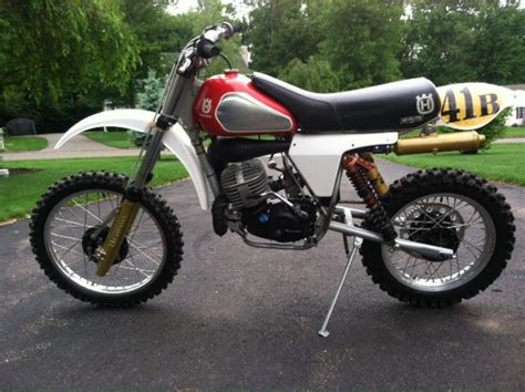 restored vintage motocross bikes for sale 1982 husqvarna cr250 equipped with hi flite seat