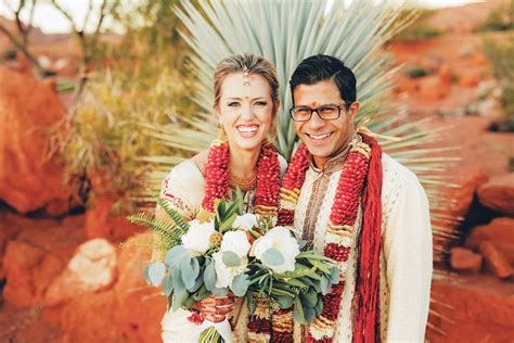 fusion indian western wedding  snow canyon country