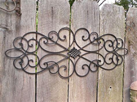 Metal Wall Decor,wrought Iron,indoor / Outdoor / Shabby