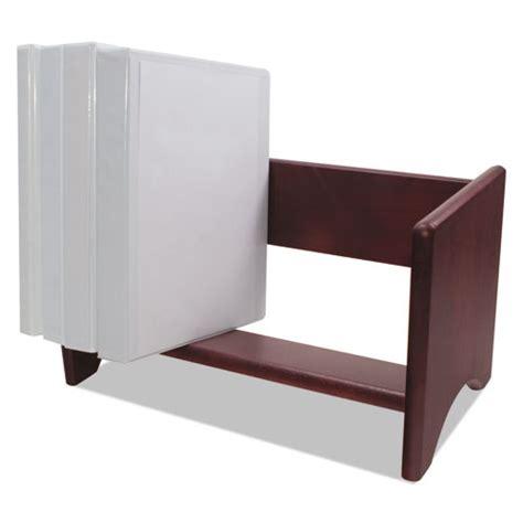 binder organizer for desk binder rack wood 17 1 8 x 9 3 4 x 9 5 8 mahogany finish