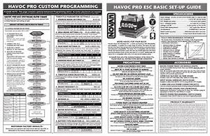 Novak Havoc Sport Esc Custom Programming  U0026 Gearing Guide