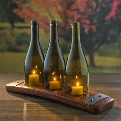 wine bottle candle holder 60 creative diy glass bottle ideas for your outdoor living