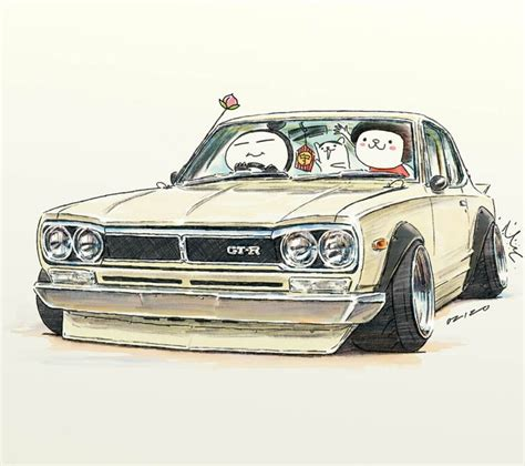 Pencil And In Color Drawn Car Jdm