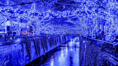 hd christmas lights in tokyo wallpaper download free