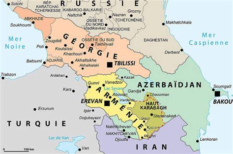 Georgia Armenia and Azerbaijan Map
