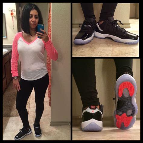 Jordan 11u0026#39;s Infrared Lows outfit pink baseball tee with my black leggings and jordans. OOTD ...