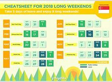 9 Long Weekends in Singapore in 2018 Bonus Calendar