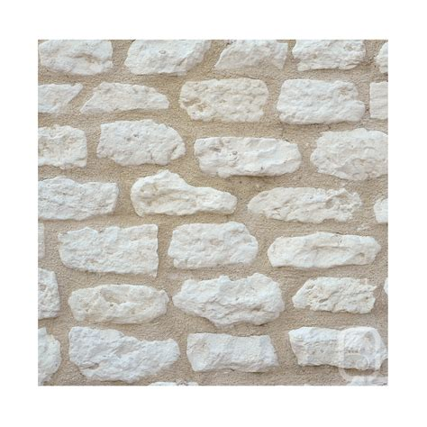 de parement pas cher exterieur petites pierres de parement rustique ton blanc 1m 178 jardinoa fr