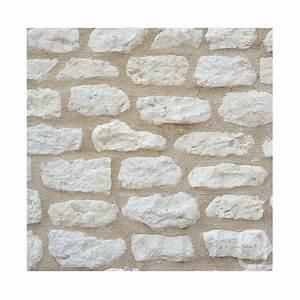 Pierre Parement Extérieur : petites pierres de parement rustique ton blanc 1m ~ Nature-et-papiers.com Idées de Décoration